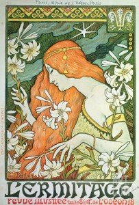 Art nouveau poster | Tessitura Bevilacqua