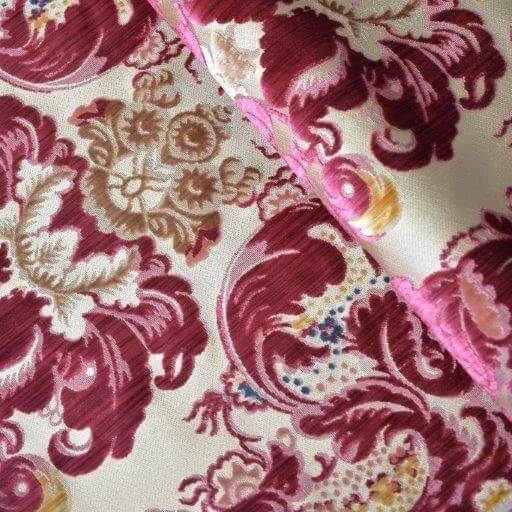 Velluto Fioroni 002-30771 Multicolore Rosso | Tessiture Bevilacqua