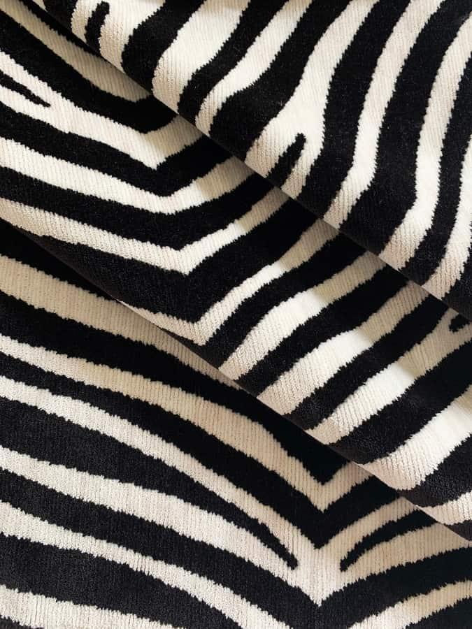 Velluto animalier Zebra 810 | Tessitura Bevilacqua