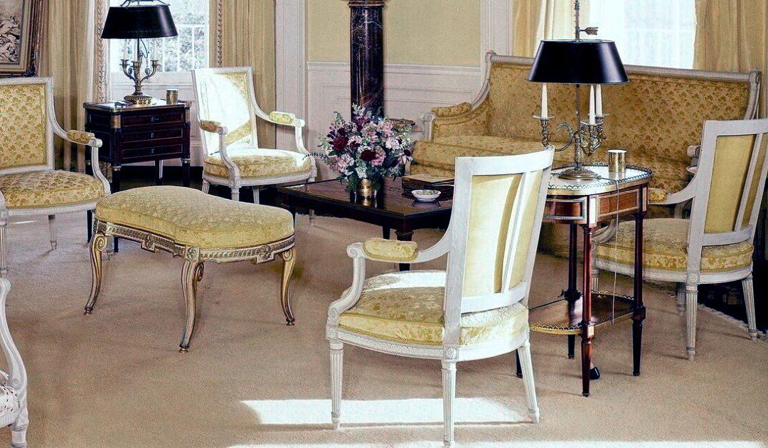Yellow Oval Room velluto per tappezzeria Architectural Digest nuova | Tessiture Bevilacqua