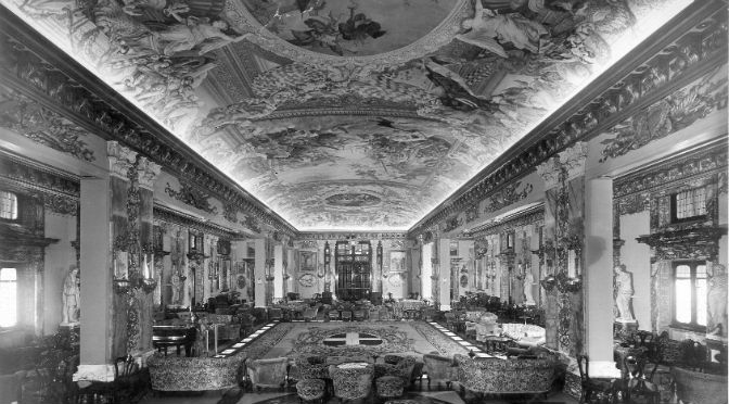 Transatlantico Conte di Savoia-Salone Colonna | Tessitura Bevilacqua