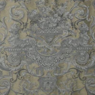 Broccatello Grottesche 101-34135 oro antico | Tessitura Bevilacqua