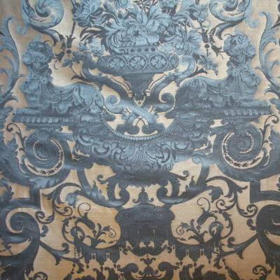 Broccatello Grottesche 103-34135 turchese antico | Tessitura Bevilacqua