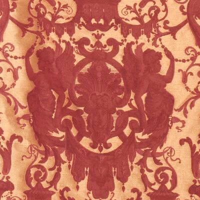Broccatello Grottesche 107-34135 rosso antico | Tessitura Bevilacqua