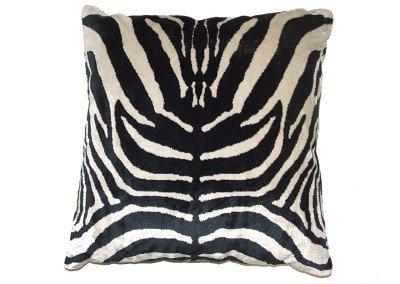 Zebra бархатной подушке