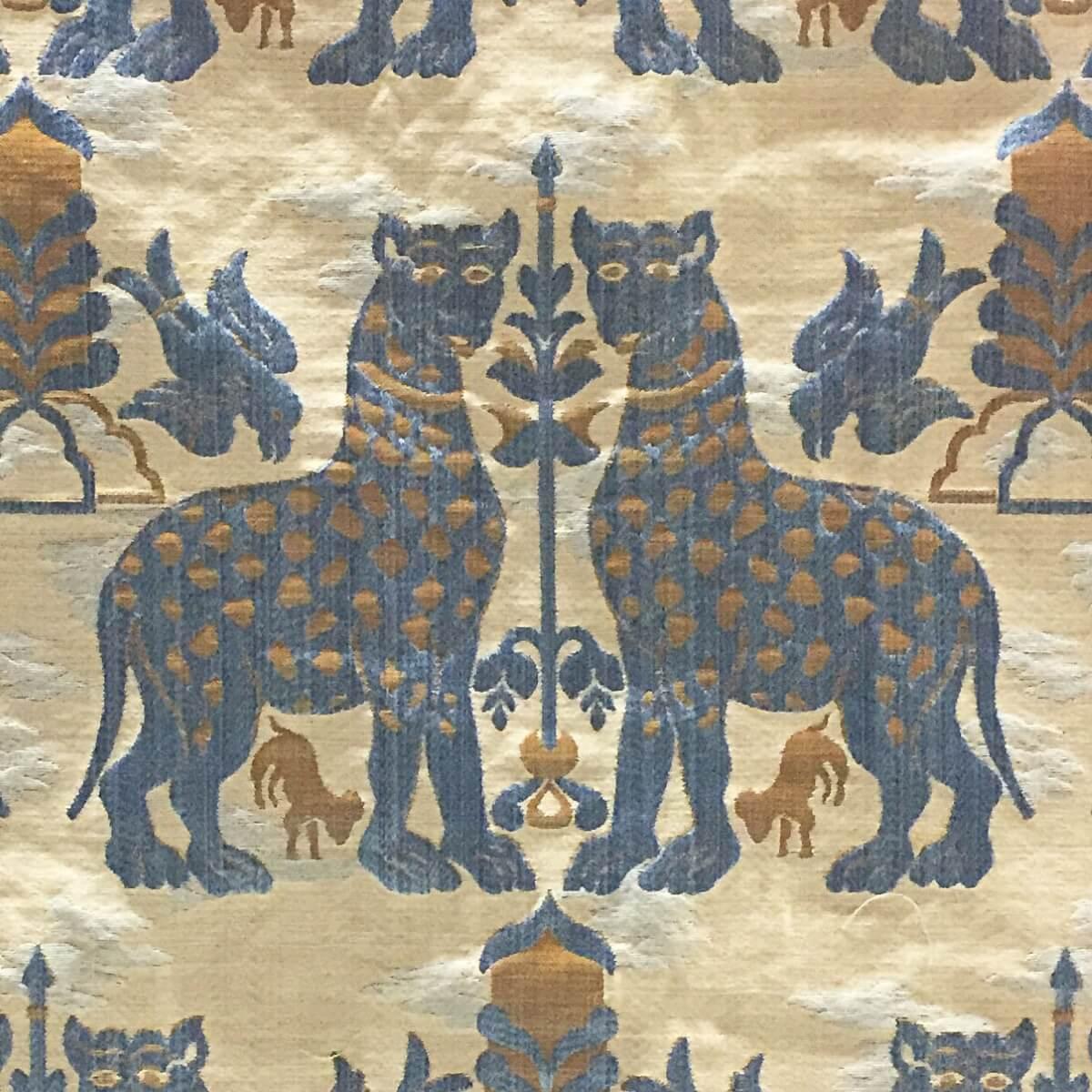 Broccatello Fiere 023-32973 azzurro | Tessiture Bevilacqua