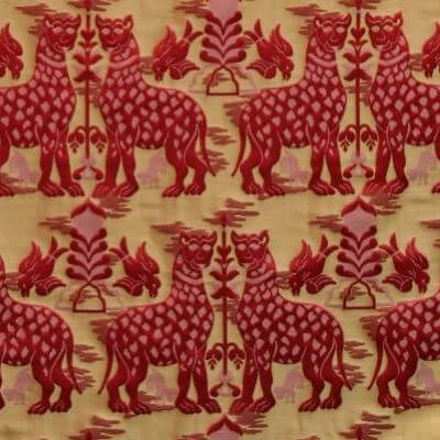 Broccatello Fiere 024-32973 rosso | Tessitura Bevilacqua