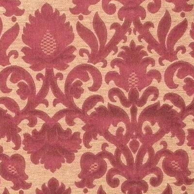 Broccatello Rinascimento 106-34361 rosso | Tessitura Bevilacqua