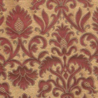 Broccatello Rinascimento 107-34361 rosso antico | Tessitura Bevilacqua