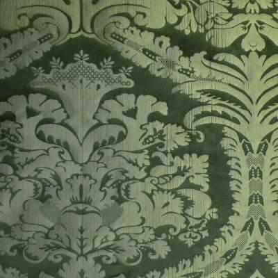 Damasco Craquelé 108-31089R smeraldo | Tessiture Bevilacqua