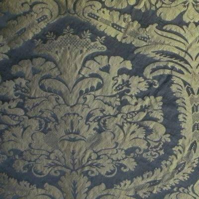 Damasco Craquelé 109-31089R blu-oro | Tessiture Bevilacqua