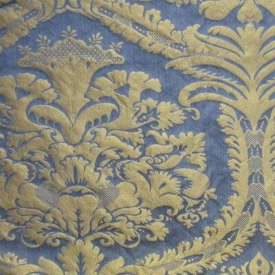 Damasco Craquelé 143-31089R azzurro-oro | Tessiture Bevilacqua