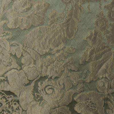 Damasco Giardino Craquele 33077 verde-oro | Tessitura Bevilacqua
