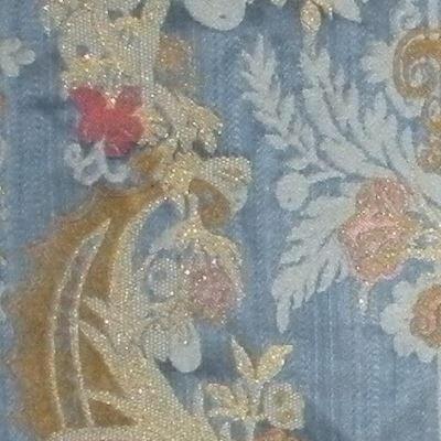 Lampasso Bizar 163-3937 azzurro strié lamé | Tessiture Bevilacqua