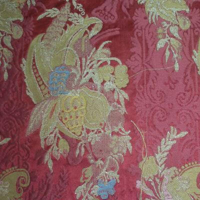 Lampasso Bizar 164-3937 rosso lamé | Tessiture Bevilacqua