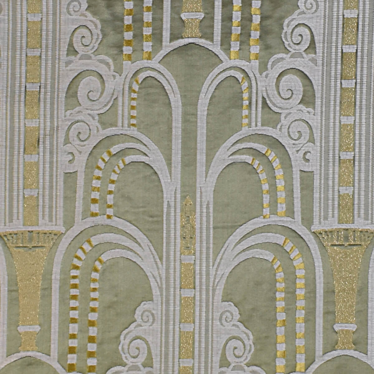 Lampasso Walls 092-34400 verde | Tessiture Bevilacqua