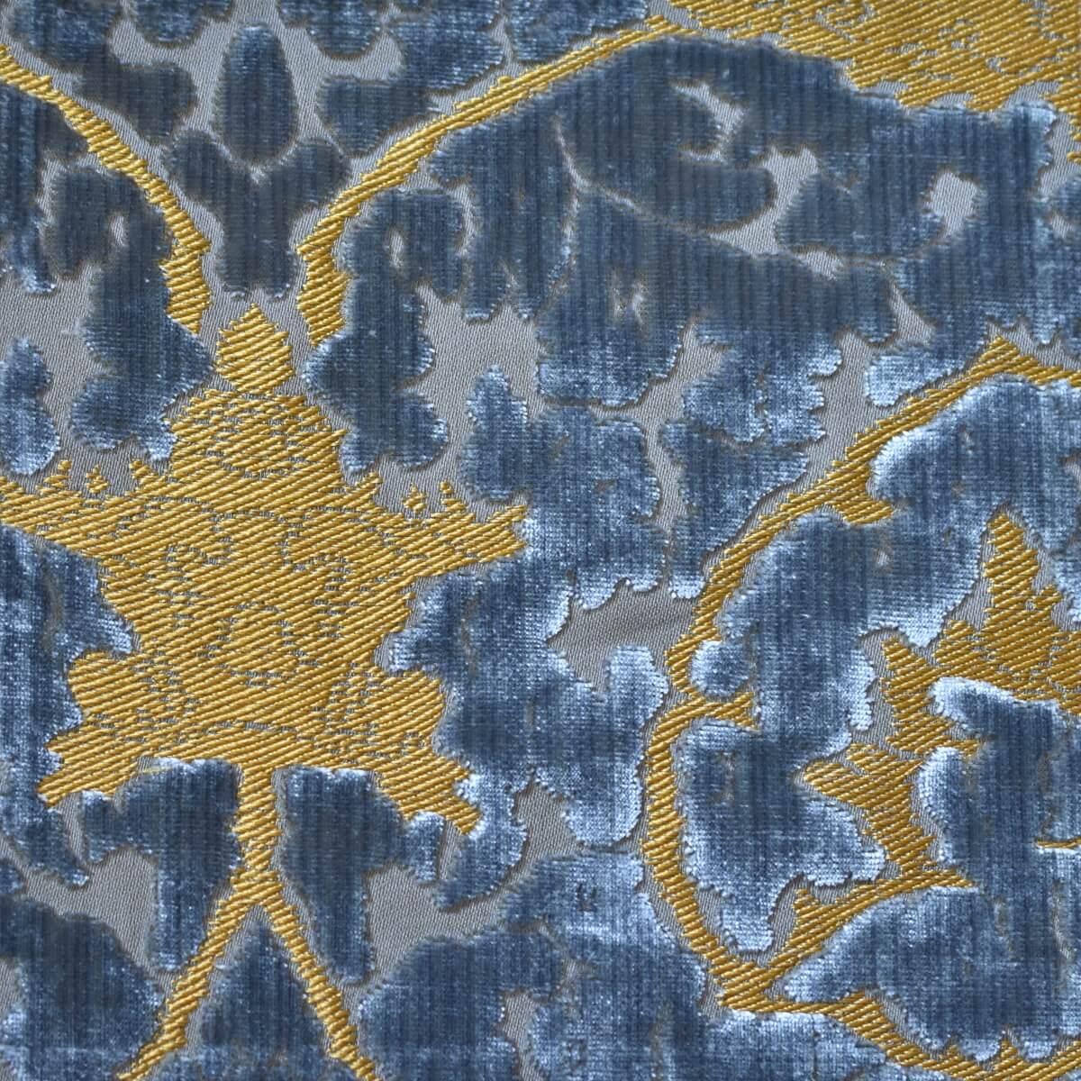 Velluto bacchetta Gotico 331-3945S azzurro | Tessiture Bevilacqua