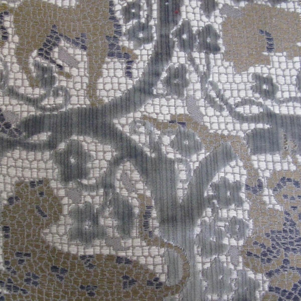 Velluto bacchetta Mosaico 401-3987S multicolore azzurro | Tessiture Bevilacqua
