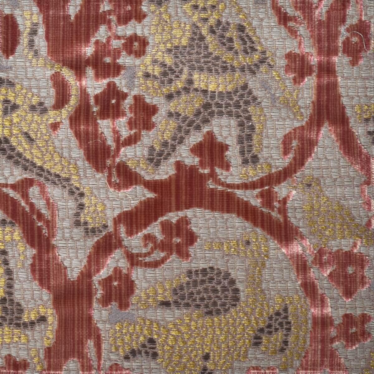 Velluto bacchetta Mosaico 408-3987S multicolore rosa antico | Tessiture Bevilacqua