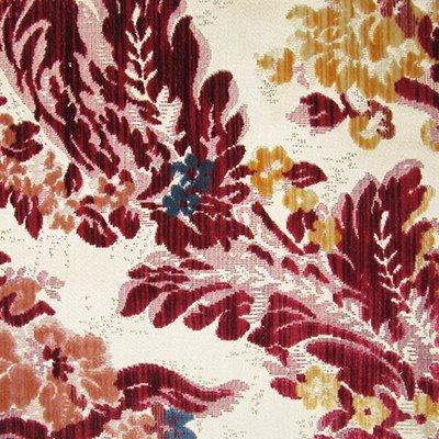 Velluto Giardino Antico multicolore turchese 012-32248 | Tessiture Bevilacqua