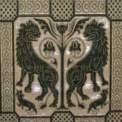Soprarizzo Leoni verde antico argento