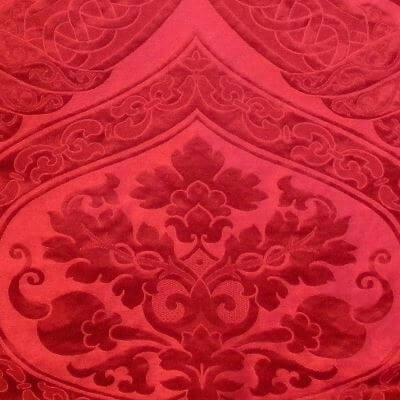 Broccatello Copenhagen 014-32431 rosso | Tessitura Bevilacqua