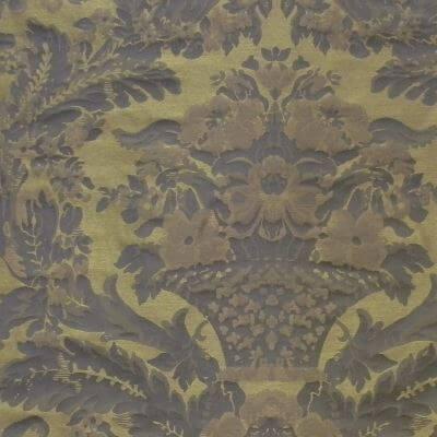 Broccatello Giardino Antico 102-34248 turchese | Tessitura Bevilacqua