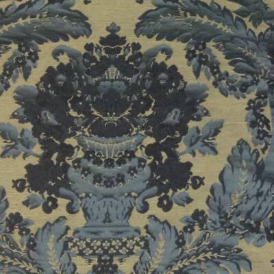 Broccatello Giardino Antico 103-34248 turchese antico | Tessitura Bevilacqua