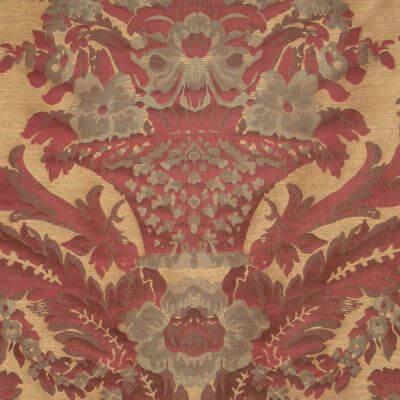 Broccatello Giardino Antico 107-32438 rosso antico | Tessitura Bevilacqua