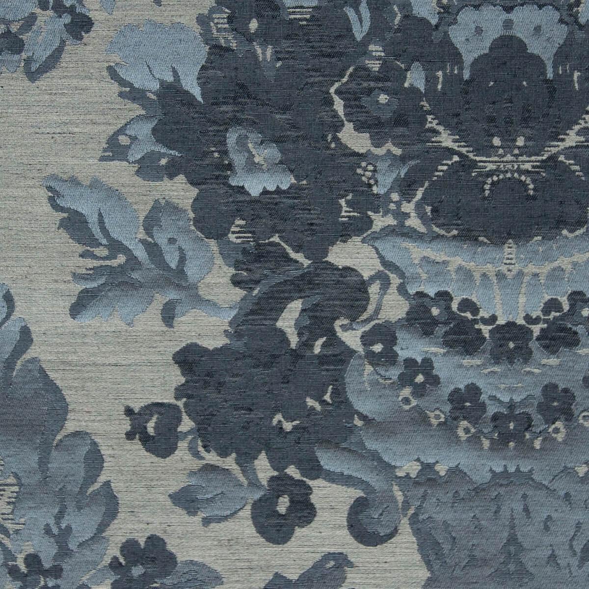 Broccatello Giardino azzurro antico 109-34248 | Tessiture Bevilacqua