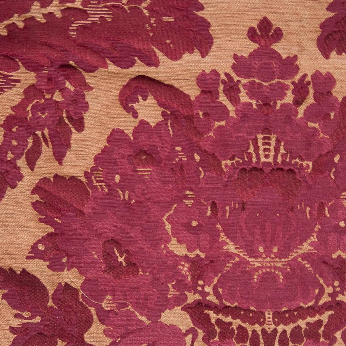 Broccatello Giardino rosso 106-34248 | Tessiture Bevilacqua