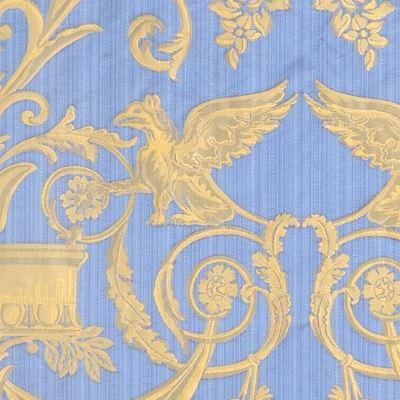 Damasco Fenice 173-31061 azzurro strié | Tessiture Bevilacqua