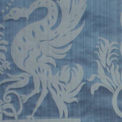 Damasco Termidoro 083-3691 azzurro-beige | Tessiture Bevilacqua