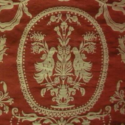 Damasco Termidoro 084-3691 rosso-beige | Tessiture Bevilacqua