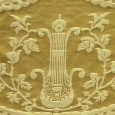 Damasco Termidoro 085-3691 oro antico-beige | Tessiture Bevilacqua