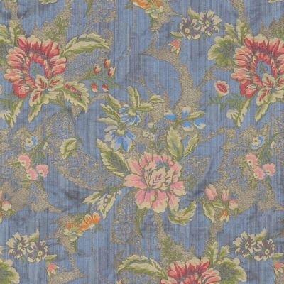 Lampasso Broccato 043-35139 azzurro | Tessitura Bevilacqua