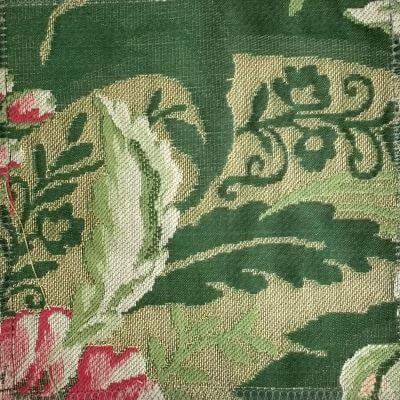 Lampasso Broccato 048-35139 smeraldo | Tessiture Bevilacqua