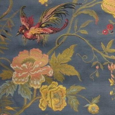 Lampasso Uccelli 099-34214 blu | Tessiture Bevilacqua