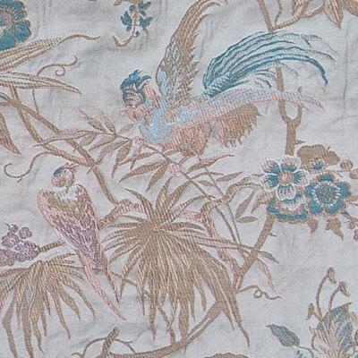 Lampasso Uccelli 306-34214 perla | Tessitura Bevilacqua