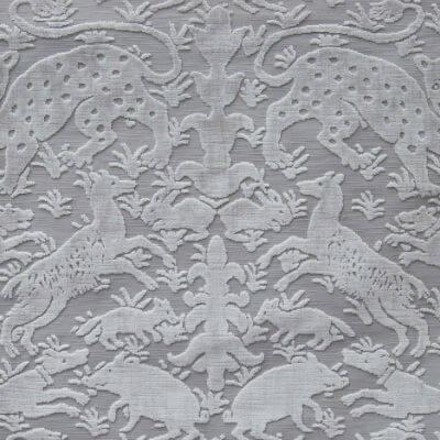 Velluto Bestiario stone 652-3339 | Tessitura Bevilacqua