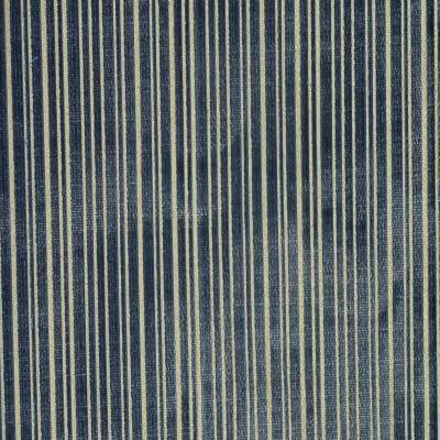 Velluto Righe Piccole 117-824-1 indaco | Tessiture Bevilacqua