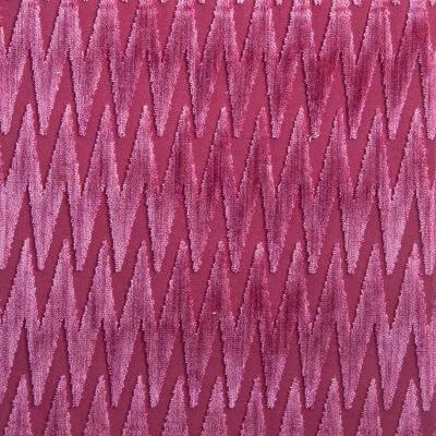 Velluto Zig Zag ibisco 650-3975 | Tessitura Bevilacqua