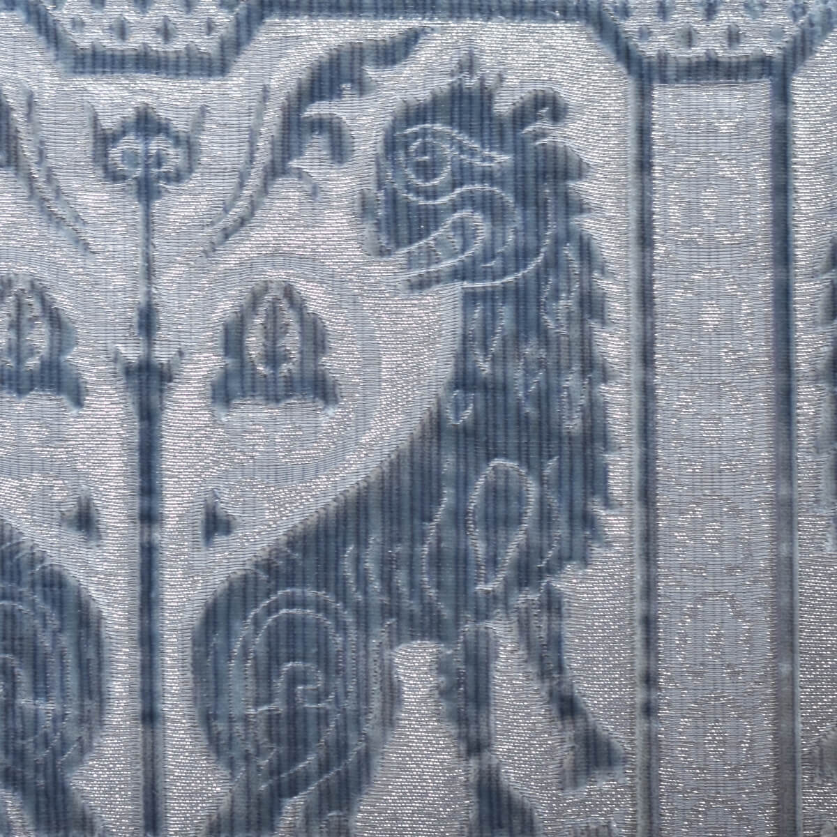 Velluto bacchetta Leoni Bizantini 021-32173S azzurro | Tessiture Bevilacqua