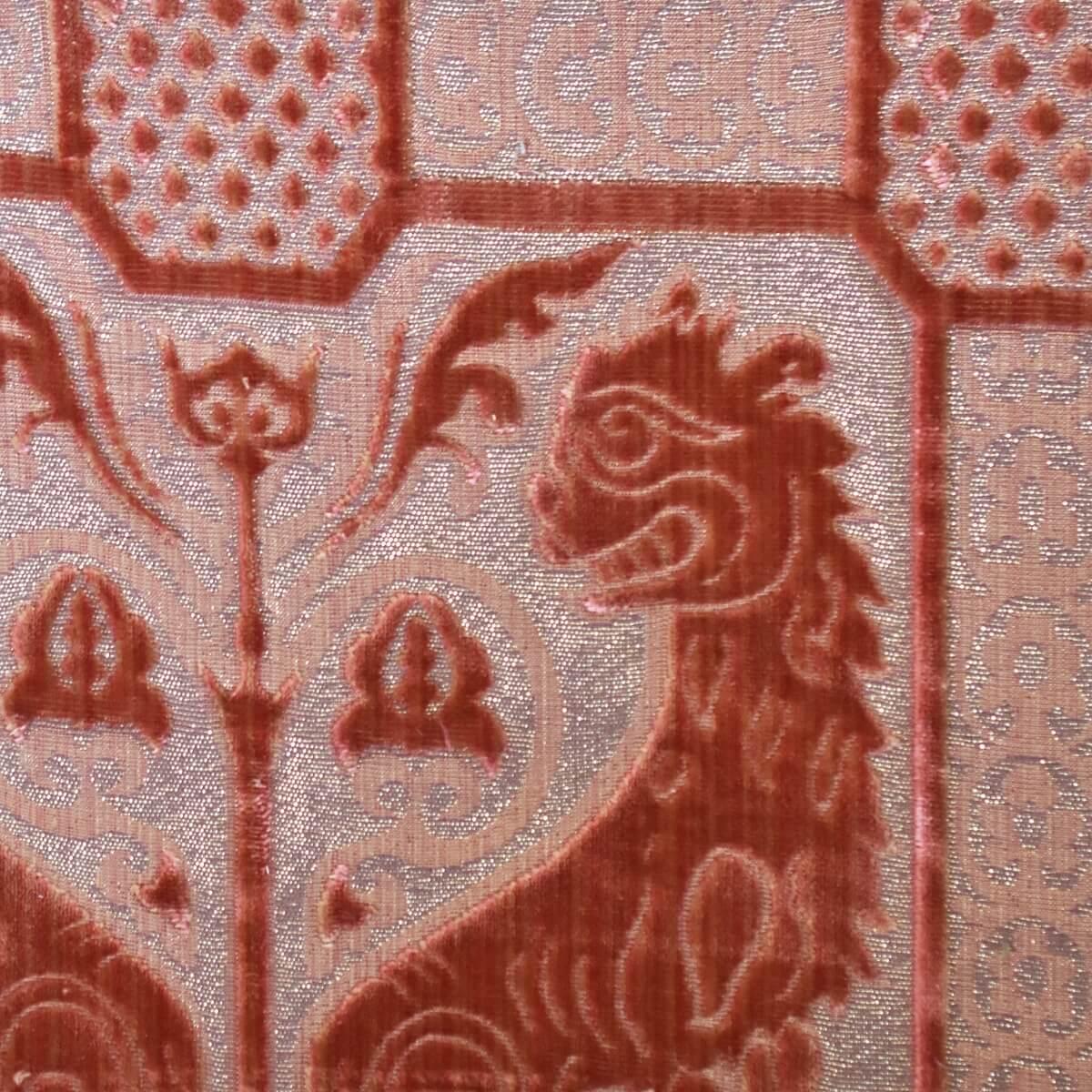 Velluto bacchetta Leoni Bizantini 028-32173S rosa antico | Tessiture Bevilacqua