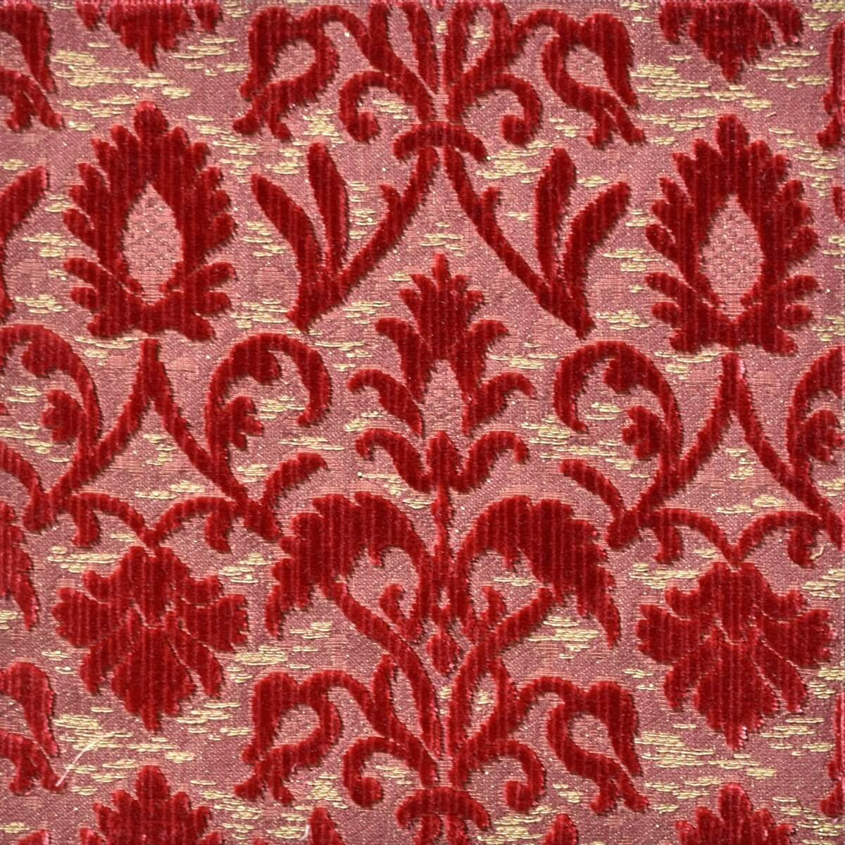 Velluto bacchetta Rinascimento 200-39361S rosso | Tessiture Bevilacqua