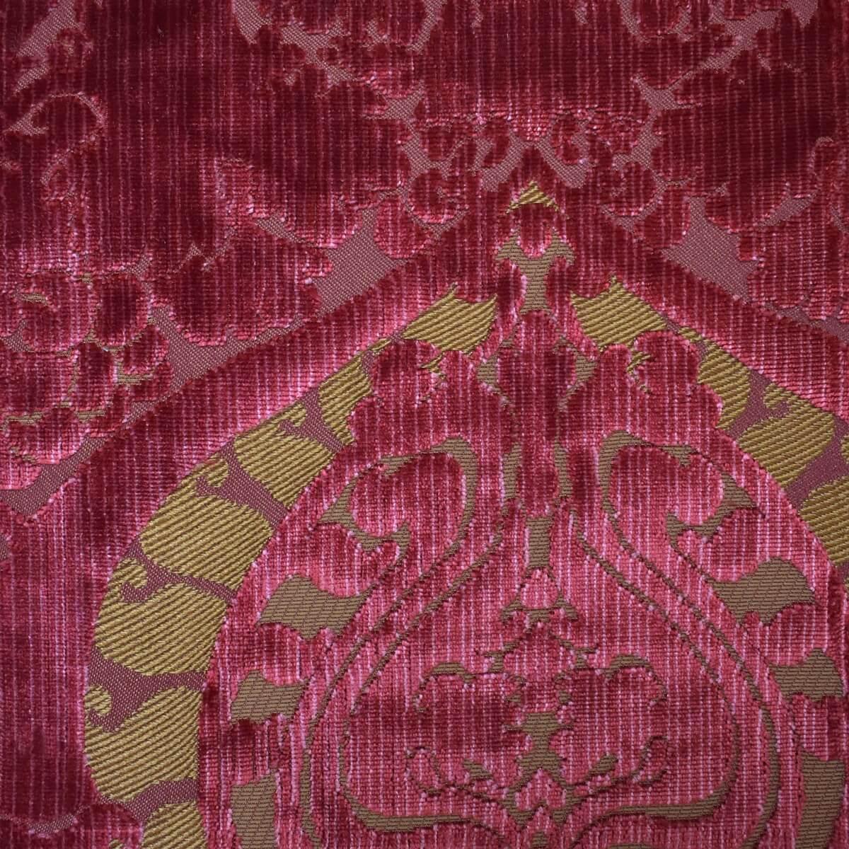 Velluto bacchetta Torcello 130-3940S rosso | Tessiture Bevilacqua
