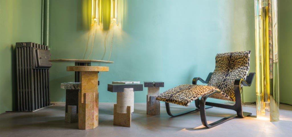 Poltrona tessuto leopardato in velluto | Tessiture Bevilacqua