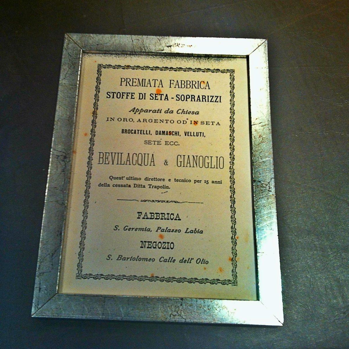 Bevilacqua silk production certificate