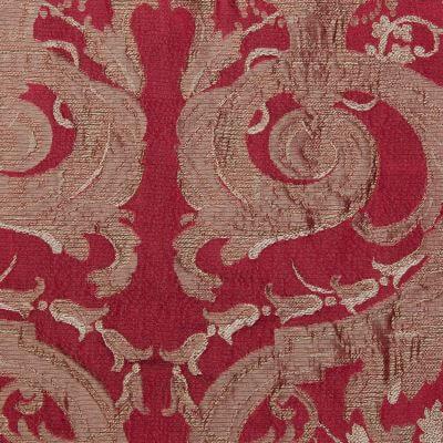 Damasco Grottesche Craquelé 354-31035 rosso | Tessiture Bevilacqua