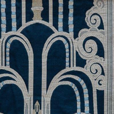 Lampasso Walls 279-34400 blu | Tessitura Bevilacqua
